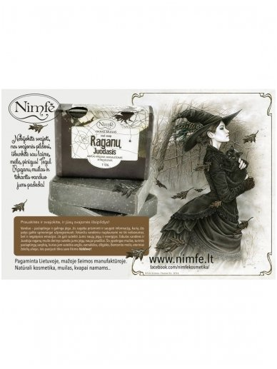 Natural soap. Witch's Black. 2
