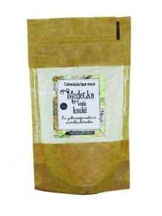 Yellow clay mask. Calendula earth.